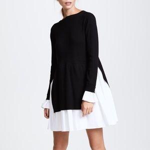 NWT English Factory Black White Knit Combo Dress Size S